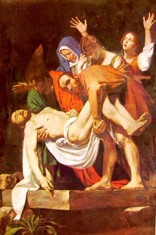 Caravaggio: La deposizione nel sepolcro (Pinacoteca Vaticana)