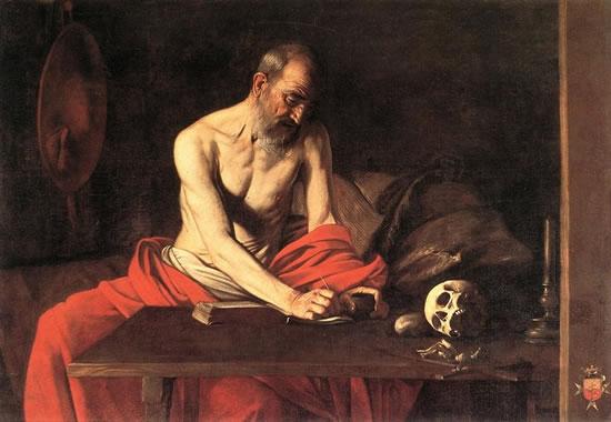 Caravaggio: San Girolamo scrivente, cm 157, Co-Cattedrale di San Giovanni