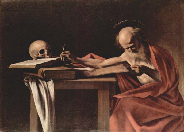 """Caravaggio: I due """"San Girolamo Scrivente"""", questo nella Galleria Borghese"""