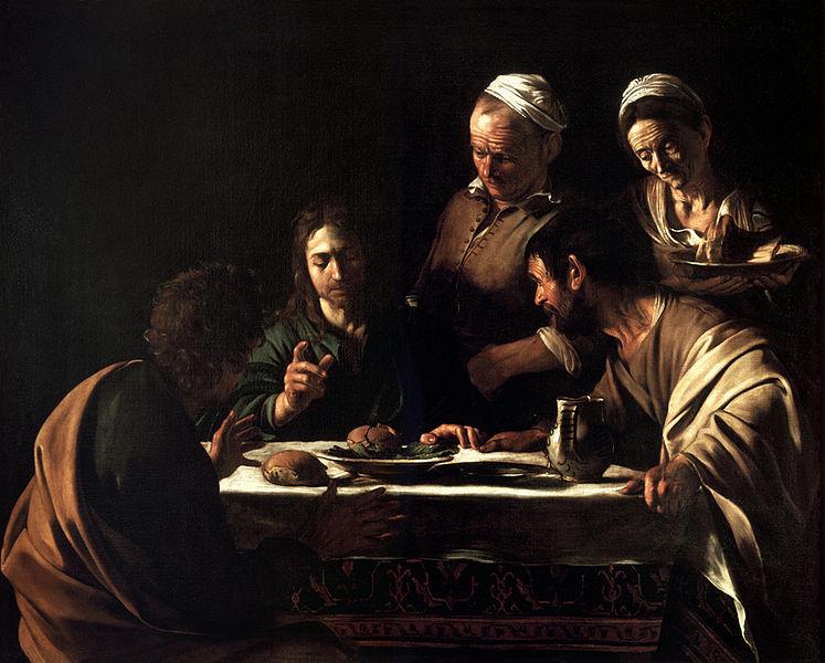 Il Caravaggio: La cena in Emmaus (Brera)