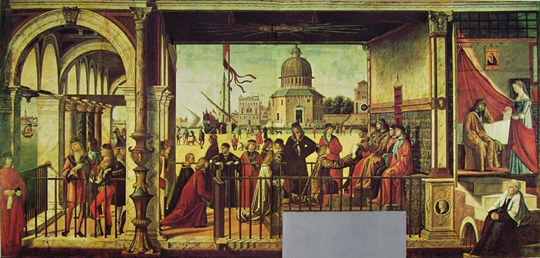 Carpaccio: Arrivo degli ambasciatori inglesi presso il re di Bretagna