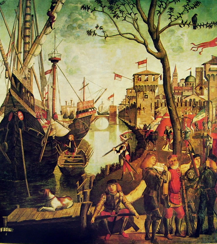 Carpaccio: L'arrivo a Colonia (Accademia di Venezia)