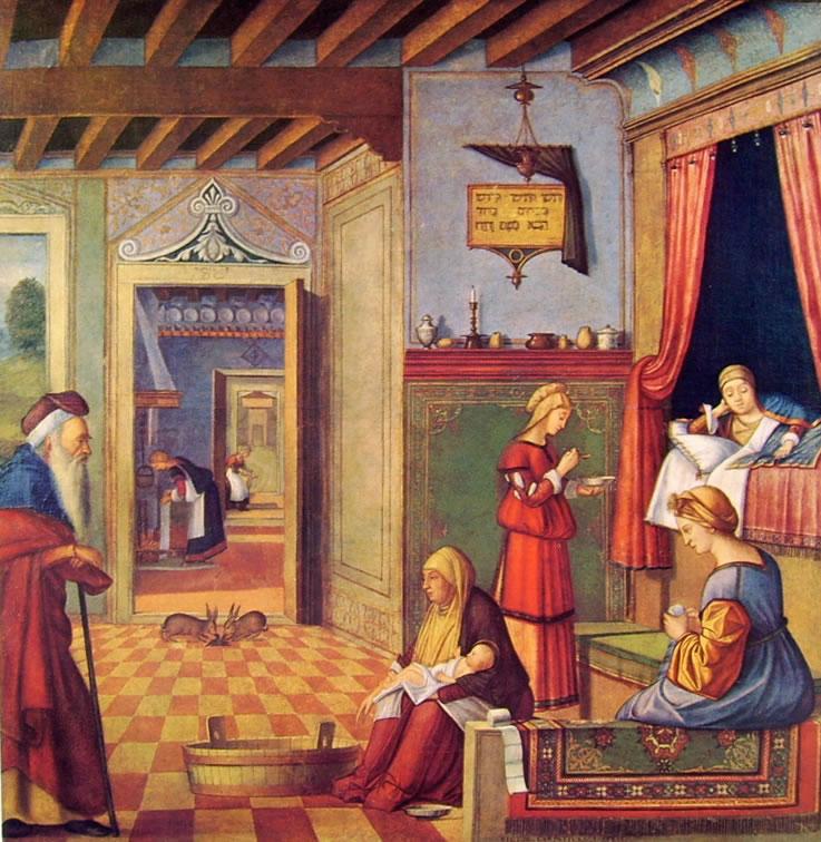 Carpaccio: Natività della Vergine
