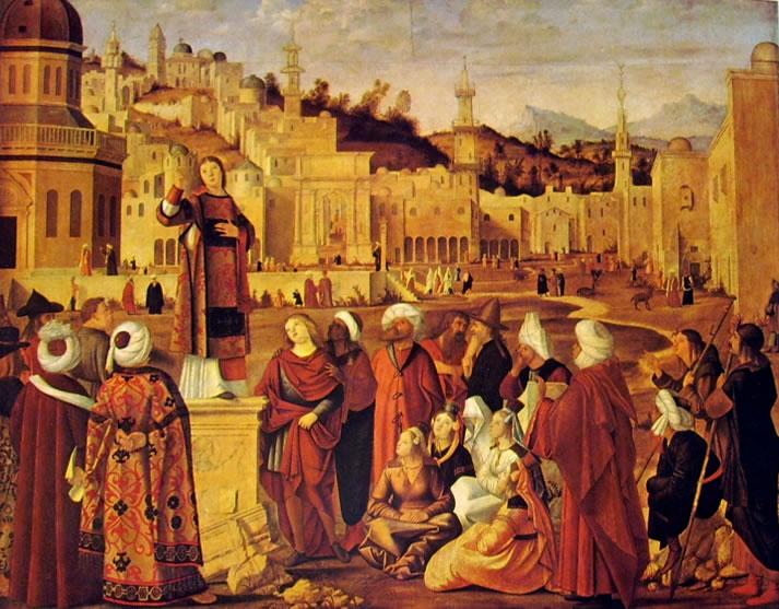 Carpaccio: La predica del santo (Louvre)