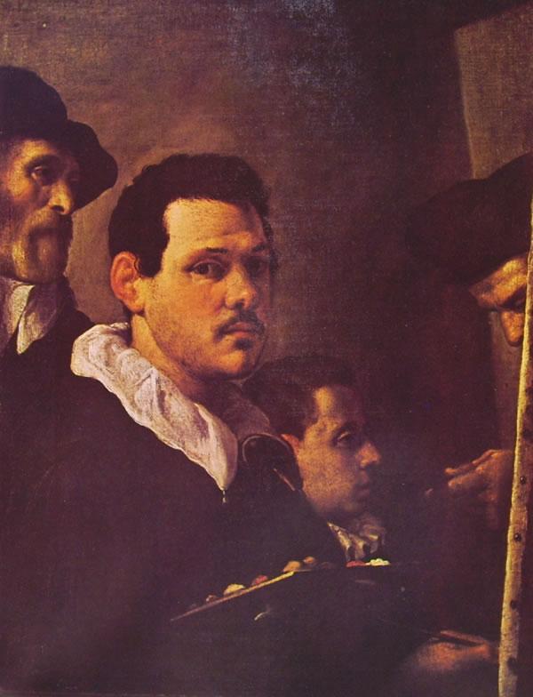 Autoritratto di Annibale Carracci con altre figure