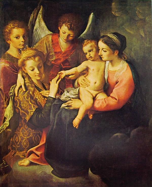 Annibale Carracci: Nozze mistiche di Santa Caterina (Capodimonte)