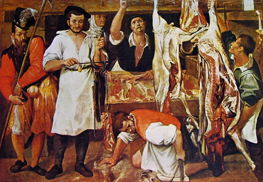 Annibale Carracci: La bottega del macellaio