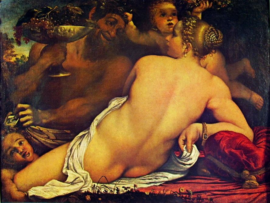 Annibale Carracci: Venere, Satiro e due amorini