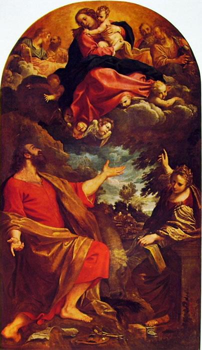 Annibale Carracci: Madonna con Bambino e Santi