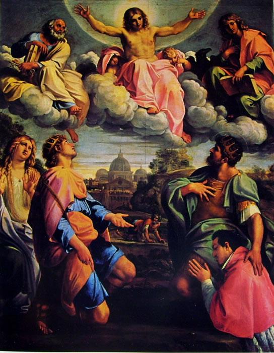 Annibale Carracci: Cristo in gloria e Santi (Pitti)