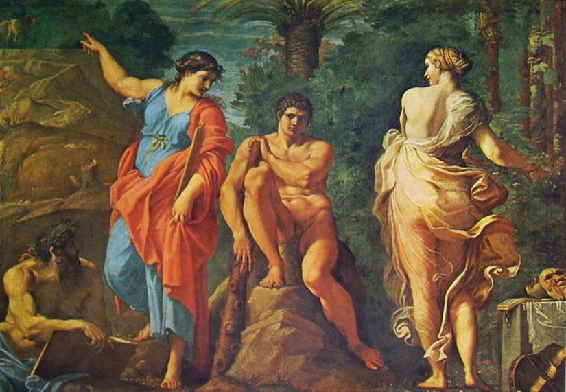Annibale Carracci: Camerino Farnese - Ercole al bivio