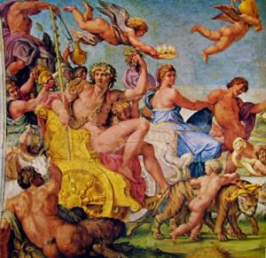 Galleria Farnese - Trionfo di Bacco e Arianna: lato a sinistra