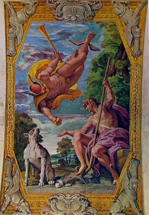 Annibale Carracci: La Galleria Farnese: Mercurio e Paride