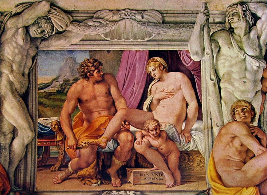 Annibale Carracci: Venere e Anchise (Palazzo Farnese)