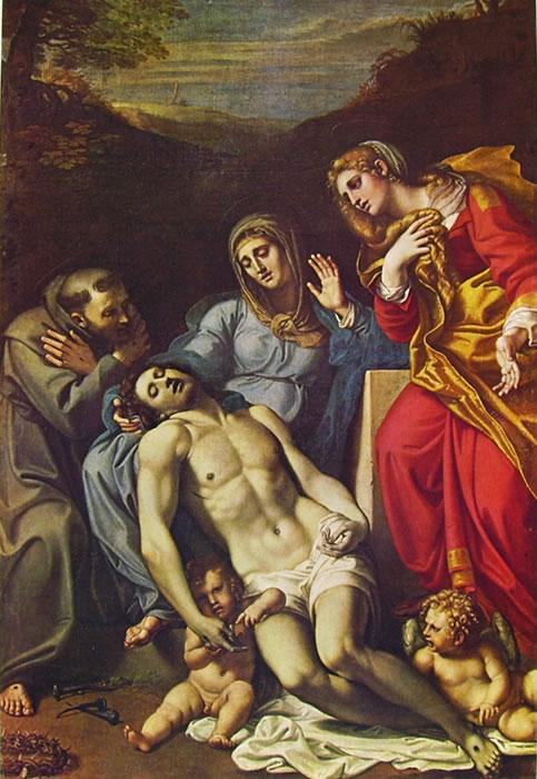 Annibale Carracci: Pietà con i Santi Francesco e Maddalena