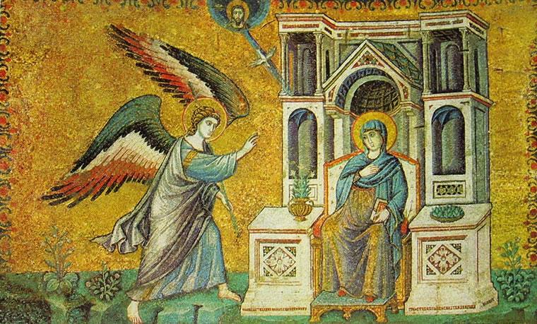 Pietro Cavallini:Annunciazione (Santa Maria in Trastevere)