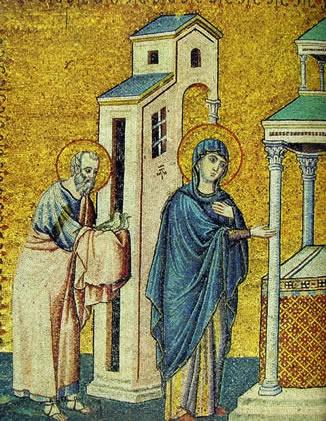 Pietro Cavallini: Presentazione al tempio (Santa Maria in Trastevere) lato sinistro