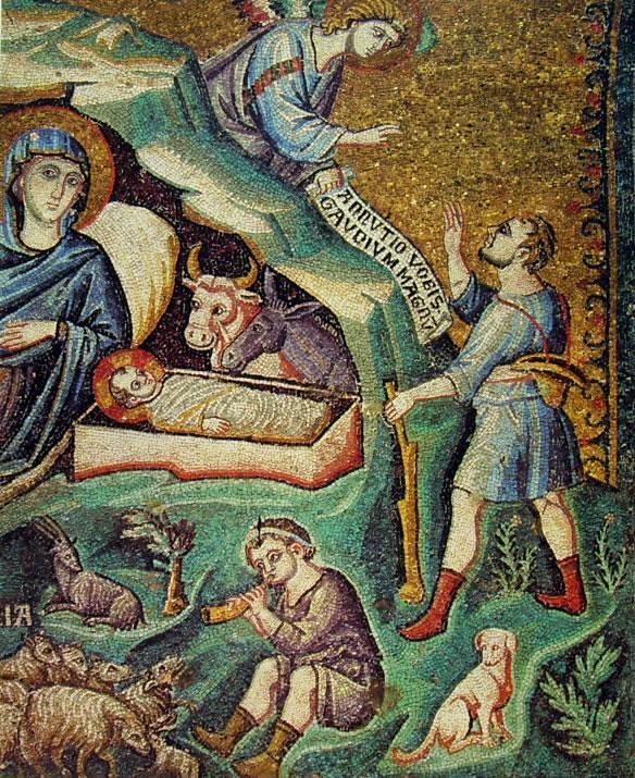Pietro Cavallini:Natività di Cristo (in Santa Maria)