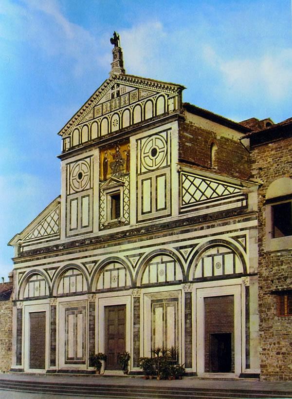 Basilica di San Miniato al Monte - La facciata della Chiesa