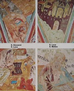 Cimabue: I quattro evangelisti (Assisi) - S. Luca e S. Matteo