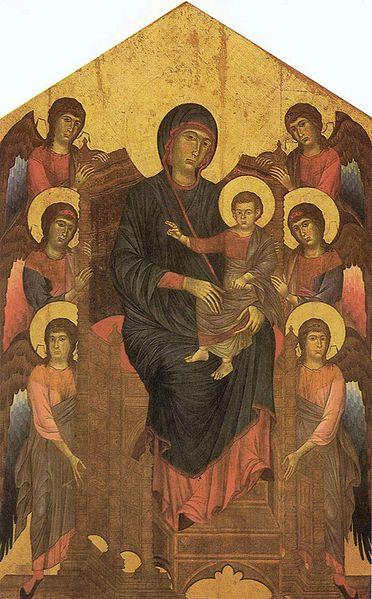 Cimabue: Cimabue: Maestà (Louvre) (o Madonna col Bambino)