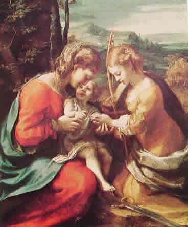 Correggio - Le Nozze mistiche di santa Caterina (Napoli)