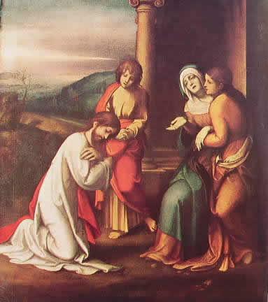 Correggio - Il commiato di Cristo (Londra)