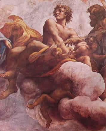 Particolari della cupola: I Santi Giacomo Minore e Tommaso