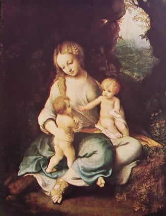 Correggio - Madonna col bambino e San Giovannino (Prado)