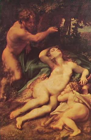 Correggio - Giove e Antiope