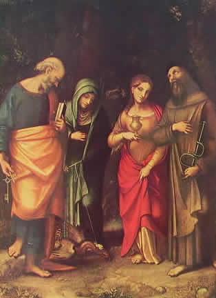 Correggio - Quattro santi