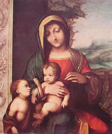 Correggio - Madonna col bambino e San Giovannino