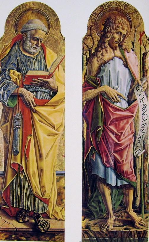 Carlo Crivelli: Polittico del duomo di Ascoli - San Pietro apostolo e San Giovanni Battista