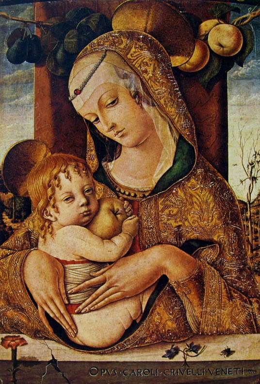 Carlo Crivelli: Madonna col bambino (Victoria and Albert Museum)