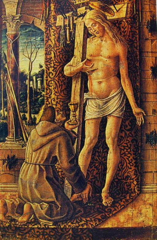 Carlo Crivelli: San Francesco raccoglie il sangue di Cristo