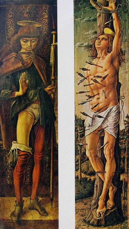 Carlo Crivelli: San Rocco e San Sebastiano (due opere distinte di assieme)