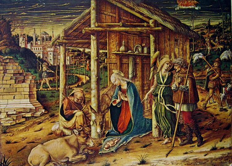 Carlo Crivelli: L'adorazione dei pastori (Strasburgo)