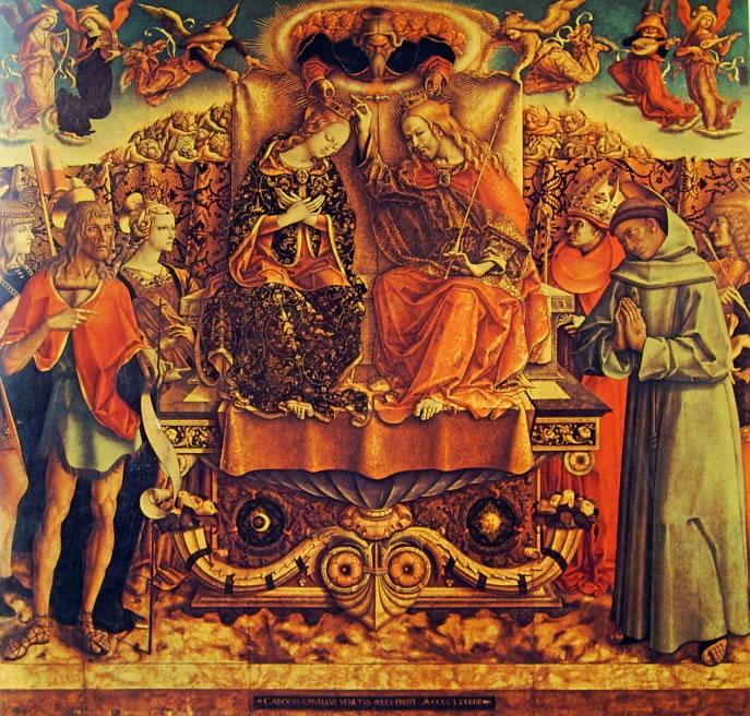 Carlo Crivelli: Incoronazione della Vergine (Pinacoteca di Brera)