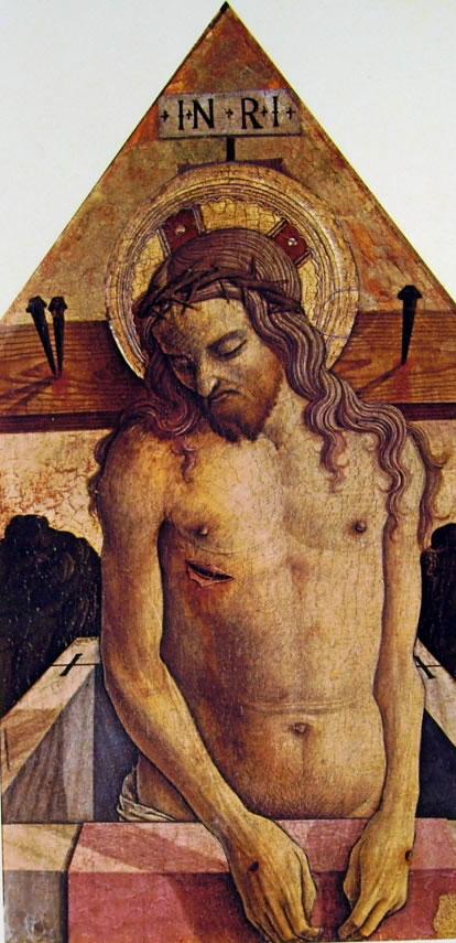Carlo Crivelli: Polittico di Massa Fermana - La Pietà
