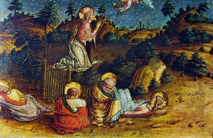 Carlo Crivelli: Polittico di Massa Fermana - La preghiera in Getsemani