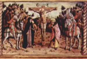 Carlo Crivelli: Polittico di Massa Fermana - Crocifissione
