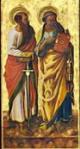 I santi Pietro e Paolo, 93 x 47 cm., National Gallery di Londra.