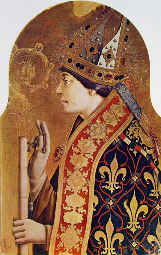 Carlo Crivelli: Polittico di Montefiore - San Ludovico di Tolosa