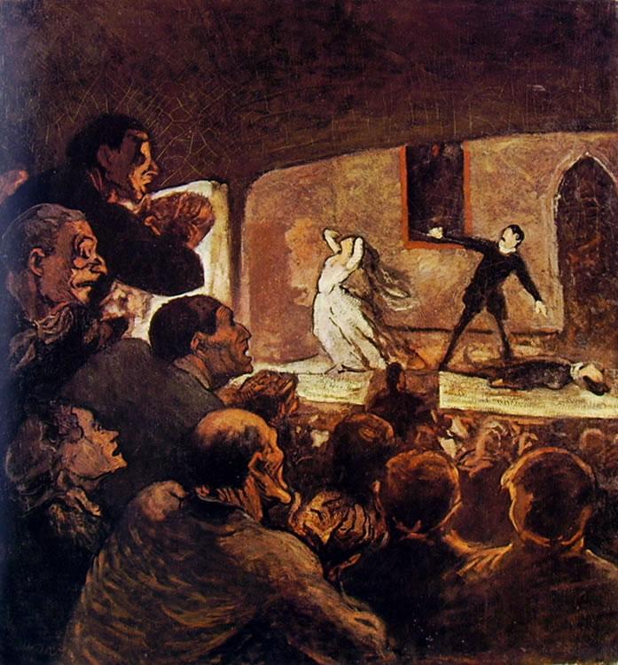 "Honoré Daumier: ""A teatro"" (Monaco)"