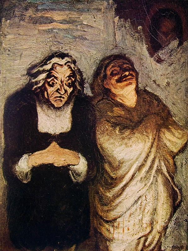 Honoré Daumier: Attori comici in scena (Louvre)
