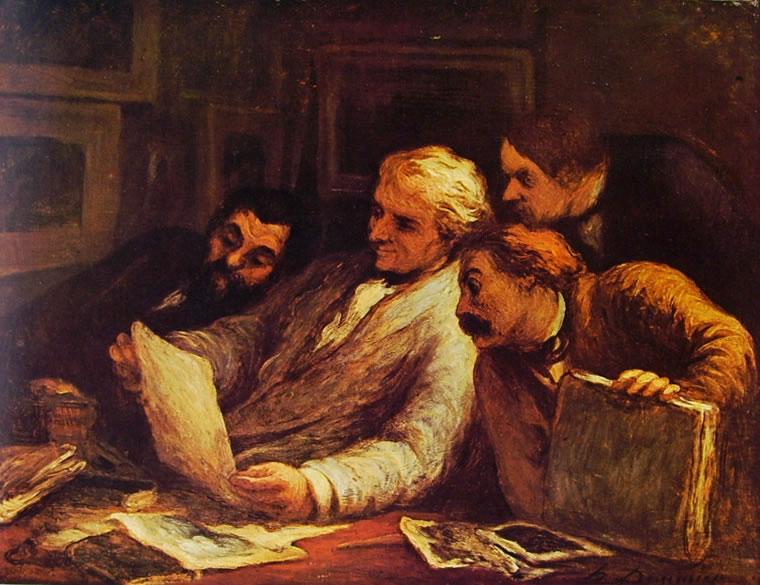 Honoré Daumier: Quattro appassionati di stampe