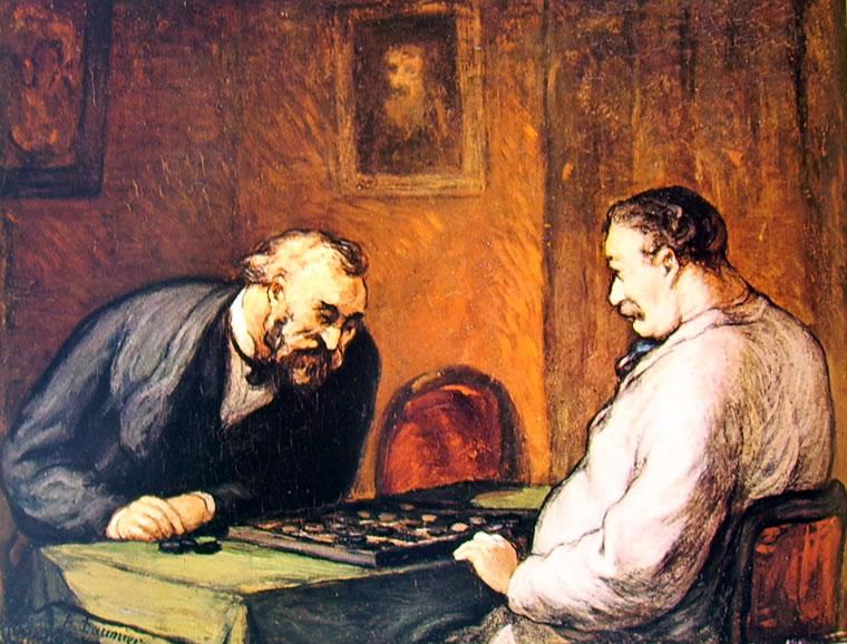 Honoré Daumier: Partita a dama (Winterthur)