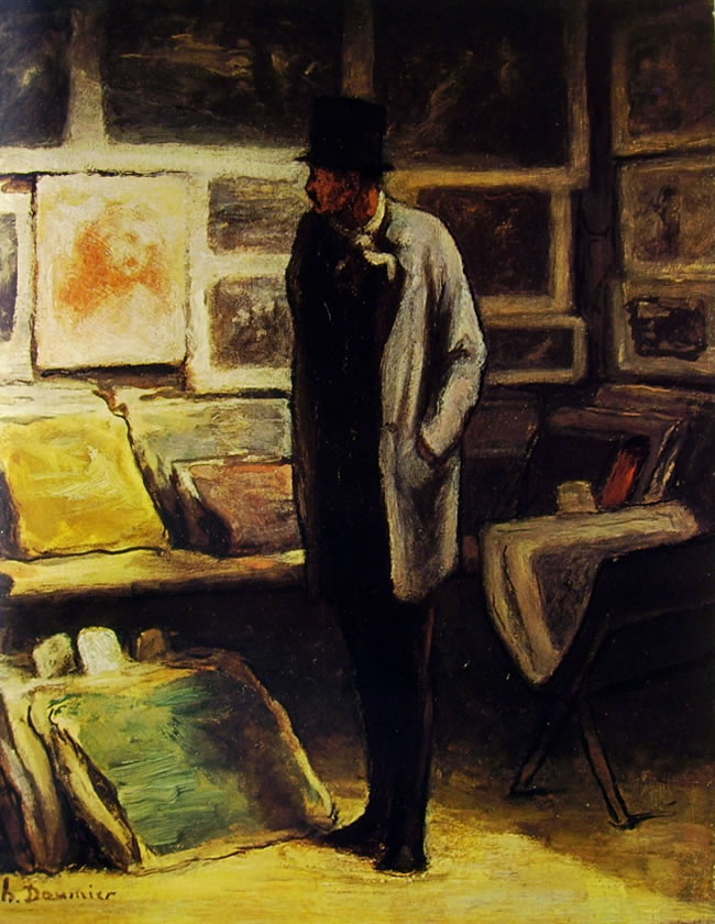 Honoré Daumier: Visitatore a una esposizione (Chicago)