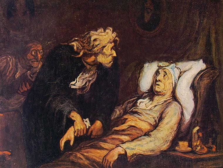 Honoré Daumier: Il malato immaginario (Filadelfia)