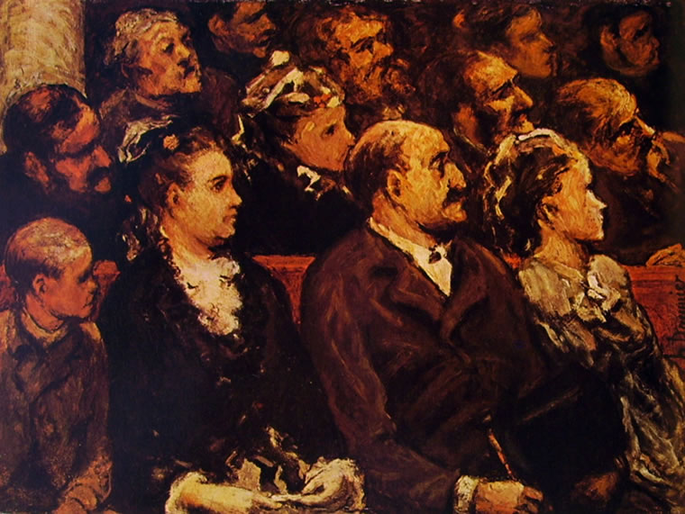Honoré Daumier: Spettatori a teatro (Washington)